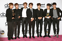 LAS VEGAS - MAY 21:  BTS at the 2017 Billboard Awards Press Room at the T-Mobile Arena on May 21, 2017 in Las Vegas, NV