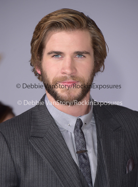 Liam Hemsworth at The  Los Angeles Premiere of The Hunger Games: Mockingjay - Part 1 held at  Nokia Theatre L.A. Live in Los Angeles, California on November 17,2014                                                                               © 2014 Hollywood Press Agency