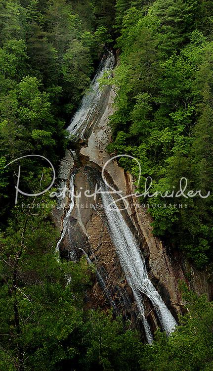 The impressive Harper Creek Waterfall in the North Carolina mountains.