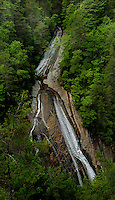 The impressive Harper Creek Waterfall in the North Carolina mountains.