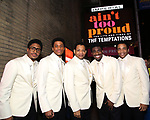 "Ephraim Sykes, Jeremy Pope, Derrick Baskin, Jawan M. Jackson, and James Harkness  starring in ""Ain't Too Proud: The Life And Times Of The Temptations"" after their first Broadway preview performance at The Imperial Theatre on February 28, 2019 in New York City."
