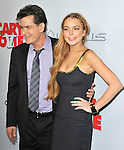 Charlie Sheen and Lindsay Lohan at The Dimension Films Premiere of Scary Movie V held at The Cinerama Dome in Hollywood, California on April 11,2013                                                                   Copyright 2013 Hollywood Press Agency