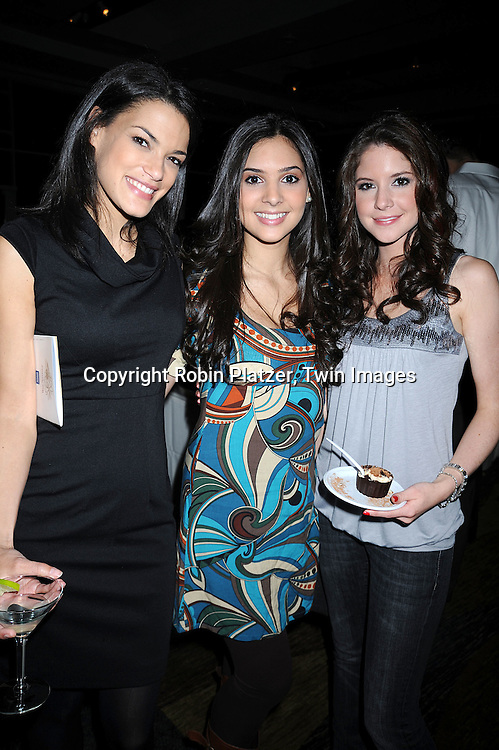 One Life To Live's Jacqueline Hendy, Camilla Banus and Brittany Underwood..at The League for the Hard of Hearing's 16th Annual Feast with Famous Faces Benefit on October 27, 2008 at Pier Sixty at Chelsea Piers.....Robin Platzer, Twin Images