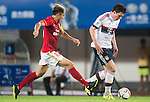 (R) Pierre-Emile Hojbjerg of Bayern Munich being followed by (L) Zheng Zhi of Guangzhou Evergrande  during the Bayern Munich vs Guangzhou Evergrande as part of the Bayern Munich Asian Tour 2015  at the Tianhe Sport Centre on 23 July 2015 in Guangzhou, China. Photo by Aitor Alcalde / Power Sport Images