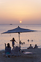 Grand Cayman. Sunset at Seven Mile Beach. The Westin Grand Cayman Seven Mile Beach Resort and Spa.