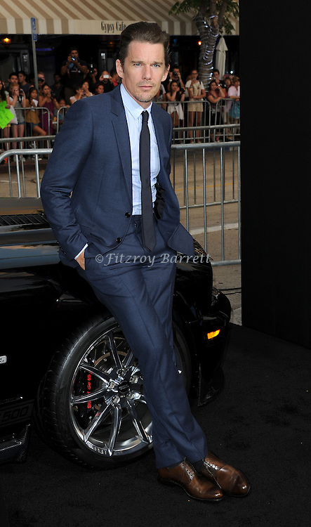 Ethan Hawke at the Los Angels premiere of Getaway held at the Regency Village Theater August 26, 2013