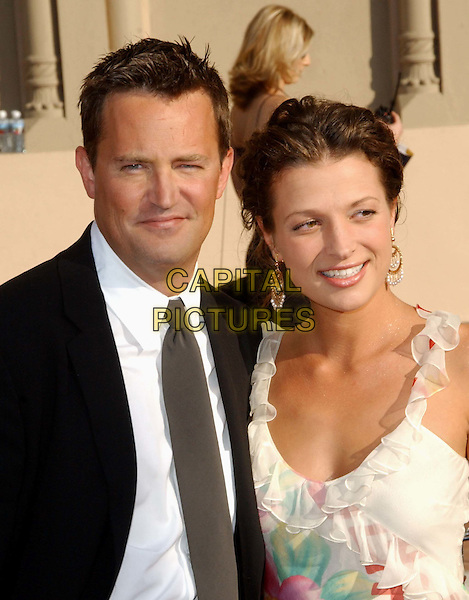 MATTHEW PERRY & RACHEL DUNN.at the Academy of Television Arts & SciencesÕ 2003 Primetime Creative Arts Emmy Awards held at The Shrine Auditorium .www.capitalpictures.com.sales@capitalpictures.com.©Capital Pictures.
