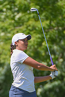 Cheyenne Woods (USA) watches her tee shot on 17 during round 2 of the 2018 KPMG Women's PGA Championship, Kemper Lakes Golf Club, at Kildeer, Illinois, USA. 6/29/2018.<br /> Picture: Golffile | Ken Murray<br /> <br /> All photo usage must carry mandatory copyright credit (© Golffile | Ken Murray)