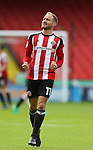 Matt Done of Sheffield Utd celebrates the win during the League One match at Bramall Lane Stadium, Sheffield. Picture date: September 17th, 2016. Pic Simon Bellis/Sportimage