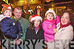 Pictured at the Santa parade in Killarney on Friday from left Timmy and Gavin O'Sullivan, Sarah, Olive and Abbie Finnan.