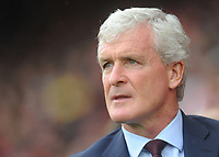 Southampton manager Mark Hughes <br /> <br /> Photographer Kevin Barnes/CameraSport<br /> <br /> The Premier League - Southampton v Burnley - Sunday August 12th 2018 - St Mary's Stadium - Southampton<br /> <br /> World Copyright &copy; 2018 CameraSport. All rights reserved. 43 Linden Ave. Countesthorpe. Leicester. England. LE8 5PG - Tel: +44 (0) 116 277 4147 - admin@camerasport.com - www.camerasport.com