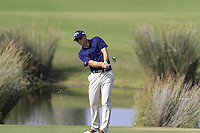 Niclas Fasth (SWE) plays his 2nd shot on the 14th hole during Thursday's Round 1 of the 2016 Portugal Masters held at the Oceanico Victoria Golf Course, Vilamoura, Algarve, Portugal. 19th October 2016.<br /> Picture: Eoin Clarke   Golffile<br /> <br /> <br /> All photos usage must carry mandatory copyright credit (© Golffile   Eoin Clarke)