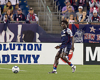 New England Revolution defender Emmanuel Osei (5) passes the ball. The New England Revolution defeated the Seattle Sounders FC, 3-1, at Gillette Stadium on September 4, 2010.
