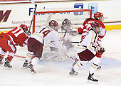 Dakota Woodworth (BU - 11), Emily Pfalzer (BC - 14), Megan Miller (BC - 32), Ashley Motherwell (BC - 18), Isabel Menard (BU - 20) - The Boston College Eagles tied the visiting Boston University Terriers 5-5 on Saturday, November 3, 2012, at Kelley Rink in Conte Forum in Chestnut Hill, Massachusetts.