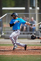 Miami Marlins Igor Baez (65) during a Minor League Spring Training Intrasquad game on March 28, 2019 at the Roger Dean Stadium Complex in Jupiter, Florida.  (Mike Janes/Four Seam Images)