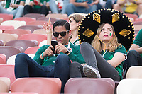 MOSCOW, RUSSIA - June 17, 2018: Mexico fans wait for the their 2018 FIFA World Cup group stage match against Germany at Luzhniki Stadium.