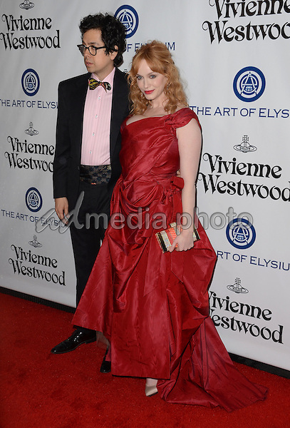 09 January  - Los Angeles, Ca - Geoffrey Arend, Christina Hendricks. Arrivals for The Art of Elysium's Presents Vivienne Westwood & Andreas Kronthaler's 2016 HEAVEN Gala held at 3Labs. Photo Credit: Birdie Thompson/AdMedia