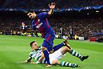 UEFA Champions League 2017/2018 - Matchday 6.<br /> FC Barcelona vs Sporting Clube de Portugal: 2-0.<br /> Luis Suarez vs Sebastian Coates.