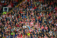Lincoln City fans watch their team in action<br /> <br /> Photographer Andrew Vaughan/CameraSport<br /> <br /> The EFL Sky Bet League Two Play Off First Leg - Lincoln City v Exeter City - Saturday 12th May 2018 - Sincil Bank - Lincoln<br /> <br /> World Copyright &copy; 2018 CameraSport. All rights reserved. 43 Linden Ave. Countesthorpe. Leicester. England. LE8 5PG - Tel: +44 (0) 116 277 4147 - admin@camerasport.com - www.camerasport.com