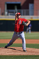 Los Angeles Angels pitcher Tyler Carpenter (51) during an instructional league game against the Arizona Diamondbacks on October 9, 2015 at the Tempe Diablo Stadium Complex in Tempe, Arizona.  (Mike Janes/Four Seam Images)