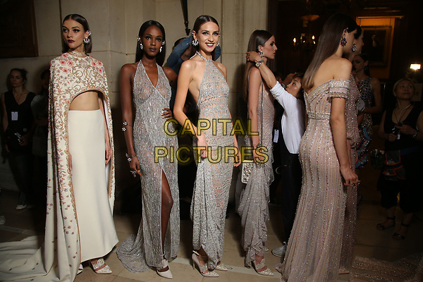 Georges Hobeika <br /> Backstage<br /> HAUTE COUTURE Fall/Winter 17/18<br /> at Paris Fashion Week in France on  July 03, 2017.<br /> CAP/GOL<br /> &copy;GOL/Capital Pictures