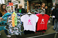 Pictured: Elvis Presley t-shirts and shirts on sale at a local shop. Friday 22 September 2017<br />