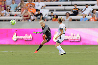 Houston, TX - Saturday July 16, 2016: Bianca Henninger during a regular season National Women's Soccer League (NWSL) match between the Houston Dash and the Portland Thorns FC at BBVA Compass Stadium.