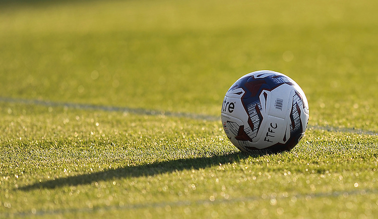 A Fleetwood Town football in the sun<br /> <br /> Photographer Dave Howarth/CameraSport<br /> <br /> Football - Capital One Cup First Round - Fleetwood Town v Hartlepool United - Tuesday 11th August 2015 - Highbury Stadium - Fleetwood<br />  <br /> &copy; CameraSport - 43 Linden Ave. Countesthorpe. Leicester. England. LE8 5PG - Tel: +44 (0) 116 277 4147 - admin@camerasport.com - www.camerasport.com