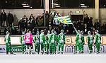 Stockholm 2014-12-02 Bandy Elitserien Hammarby IF - IFK V&auml;nersborg :  <br /> Hammarbys spelare tackar Hammarbys supportrar efter matchen mellan Hammarby IF och IFK V&auml;nersborg <br /> (Foto: Kenta J&ouml;nsson) Nyckelord:  Elitserien Bandy Zinkensdamms IP Zinkensdamm Zinken Hammarby Bajen HIF IFK V&auml;nersborg jubel gl&auml;dje lycka glad happy supporter fans publik supporters