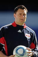 New York Red Bulls strength and fitness coach Jeremy Holsopple during a practice at Red Bull Arena in Harrison, NJ, on March 16, 2010.
