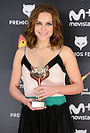 Aura Garrido win the award at Feroz Awards 2017 in Madrid, Spain. January 23, 2017. (ALTERPHOTOS/BorjaB.Hojas)