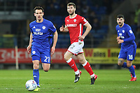 Craig Bryson of Cardiff City is marked by Gary Gardner of Barnsley during the Sky Bet Championship match between Cardiff City and Barnsley at the Cardiff City Stadium, Wales, UK. Tuesday 06 March 2018