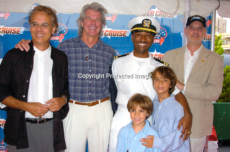 "Bill Borden, Duwayne Dunham, Let Joe Fikes, Barry Rosenbush and Bill's Children ..at the New York Premiere of "" Tiger Cruise"" on August 3, 2004 onboard The Intrepid. The movie is a Disney Channel movie . ..Photo by Robin Platzer, Twin Images"