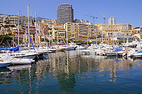 Luxury yachts and boats in Monaco harbor