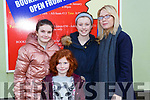 Aine Cotter, Isabelle Nash, Maebh Cotter and Claire Nash Abbeyfeale enjoying the Killorglin Panto Pinocchio on Saturday