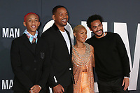 "LOS ANGELES - OCT 6:  Jaden Smith, Will Smith, Jada Pinkett Smith, Trey Smith at the ""Gemini"" Premiere at the TCL Chinese Theater IMAX on October 6, 2019 in Los Angeles, CA"
