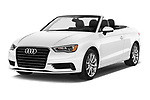 2015 Audi A3 2.0T quattro S tronic Premium 2 Door Convertible angular front stock photos of front three quarter view