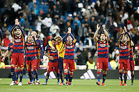 FC Barcelona's playres celebrate the victory in La Liga match. November 21,2015. (ALTERPHOTOS/Acero) /NortePhoto