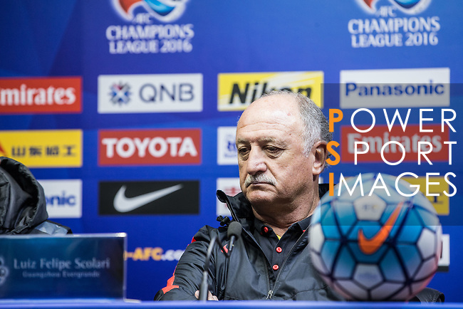 Team Guangzhou Evergrande Pre-match Press conference of the AFC Champions League 2016 Group H Group Stage between Guangzhou Evergrande and Pohang Steelers at Guangzhou Tianhe Sport Center on 23 February 2016 in Guangzhou, China. Photo by Moses Ng / Power Sport Images