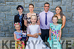 Poppy Daley who received her First Holy Communion in Kilmoyley on Saturday.<br /> Front l to r: Luisa, Poppy and Chelsea Daley.<br /> Back l to r: Stephen, Louise, Sean and Kerrie Daley.