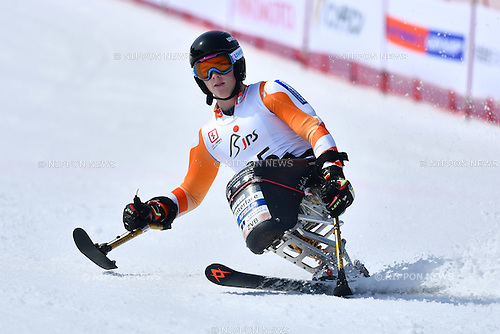 Jeroen Kampschreur (NED), <br /> MARCH 5, 2017 - Alpine Skiing :<br /> IPC Alpine World Cup Hakuba,<br /> Men's Giant Slalom <br /> Sitting LW12-2 <br /> at Hakuba Happo One, Nagano Japan.<br /> (Photo by AFLO SPORT)