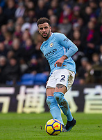 Kyle Walker of Manchester City during the Premier League match between Crystal Palace and Manchester City at Selhurst Park, London, England on 31 December 2017. Photo by Andy Rowland.