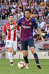 Sergio Busquets of FC Barcelona in action during their La Liga  2018-19 match between Barcelona and Athletic Bilbao at Camp Nou Stadium on September 29, 2018 in Barcelpona, Spain. Photo by Vicens Gimenez / Power Sport Images
