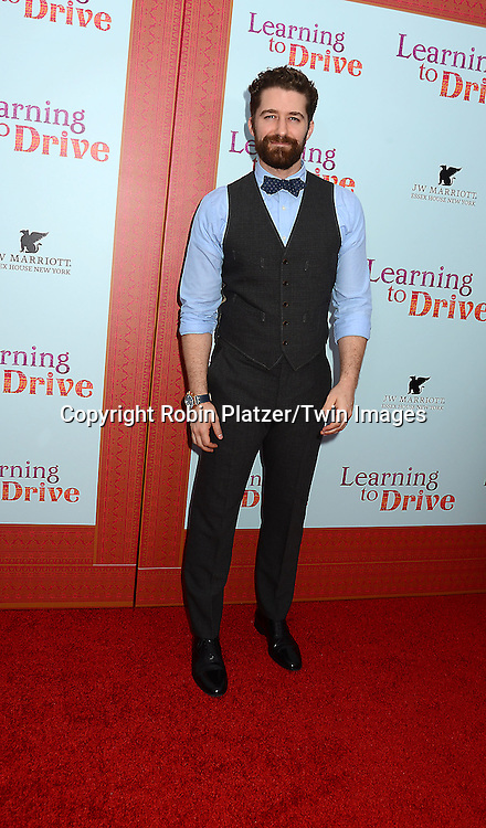 Matthew Morrison  attends the NewYork VIP Premiere of &quot;Learning to Drive&quot;<br /> on August 17, 2015 at The Paris Theatre in New York City, New York, USA. <br /> <br /> photo by Robin Platzer/Twin Images<br />  <br /> phone number 212-935-0770