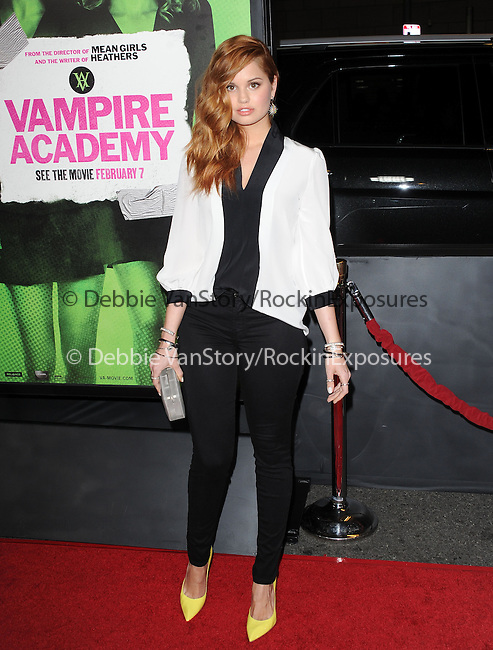 Debby Ryan attends The Weinstein Company L.A. Premiere of Vampire Academy held at The Premiere House at Regal Cinemas L.A. Live Stadium 14 in Los Angeles, California on February 04,2014                                                                               © 2014 Hollywood Press Agency