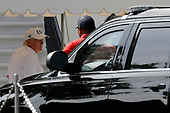 United States President Donald J. Trump returns to the White House in Washington after from Trump National Golf Club in Sterling, Virginia on Saturday, June 8, 2019. <br /> Credit: Yuri Gripas / Pool via CNP