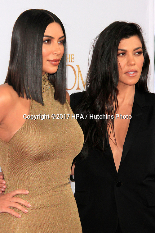 "LOS ANGELES - APR 12:  Kim Kardashian, Kourtney Kardashian at the ""The Promise"" Premiere at the TCL Chinese Theater IMAX on April 12, 2017 in Los Angeles, CA"