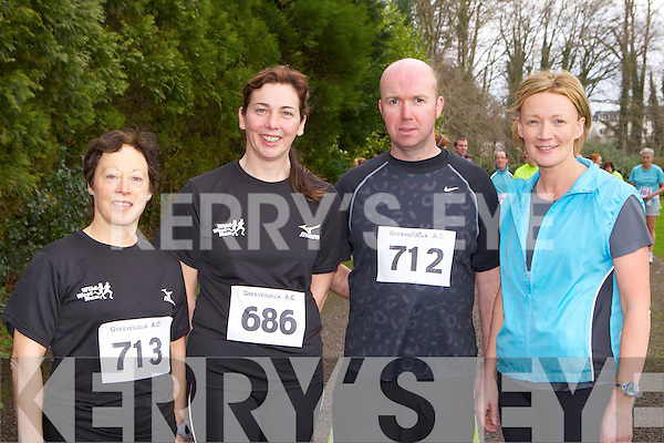 Geraldine O'Sullivan, Catherine Foley, Stephen Griffin and Marie Murphy keeping fit at the Gneeveguilla AC road race series in Killarney on Saturday