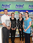 Staff of Ardee Pharmacy James Tiffney, Naoise McComish, Grace McCormack and Tara McCabe pictured during the Ardee Bonanza weekend. Photo:Colin Bell/pressphotos.ie