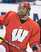 Robbie Earl - The University of Wisconsin Badgers practiced on Wednesday, April 5, 2006, at the Bradley Center in Milwaukee, Wisconsin.  The Badgers won the Title by defeating Maine on April 6 and Boston College on April 8.